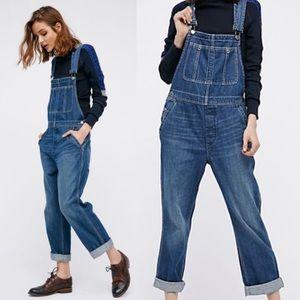 Free People Boyfriend Denim Jeans Overalls